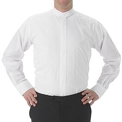 Henry Segal - 1101 - Mens Dress Shirt (Banded Collar W/ Fly Front) - White