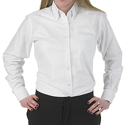 Henry Segal - 1501 - Ladies Oxford Shirt (Button-Down Collar W/ Pocket) - White