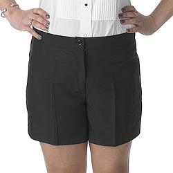 Henry Segal - 2201 - Ladies Tuxedo Shorts - Black