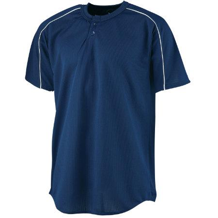 Augusta Sportswear™ - 586 - Wicking Two-Button Baseball Jersey - Youth
