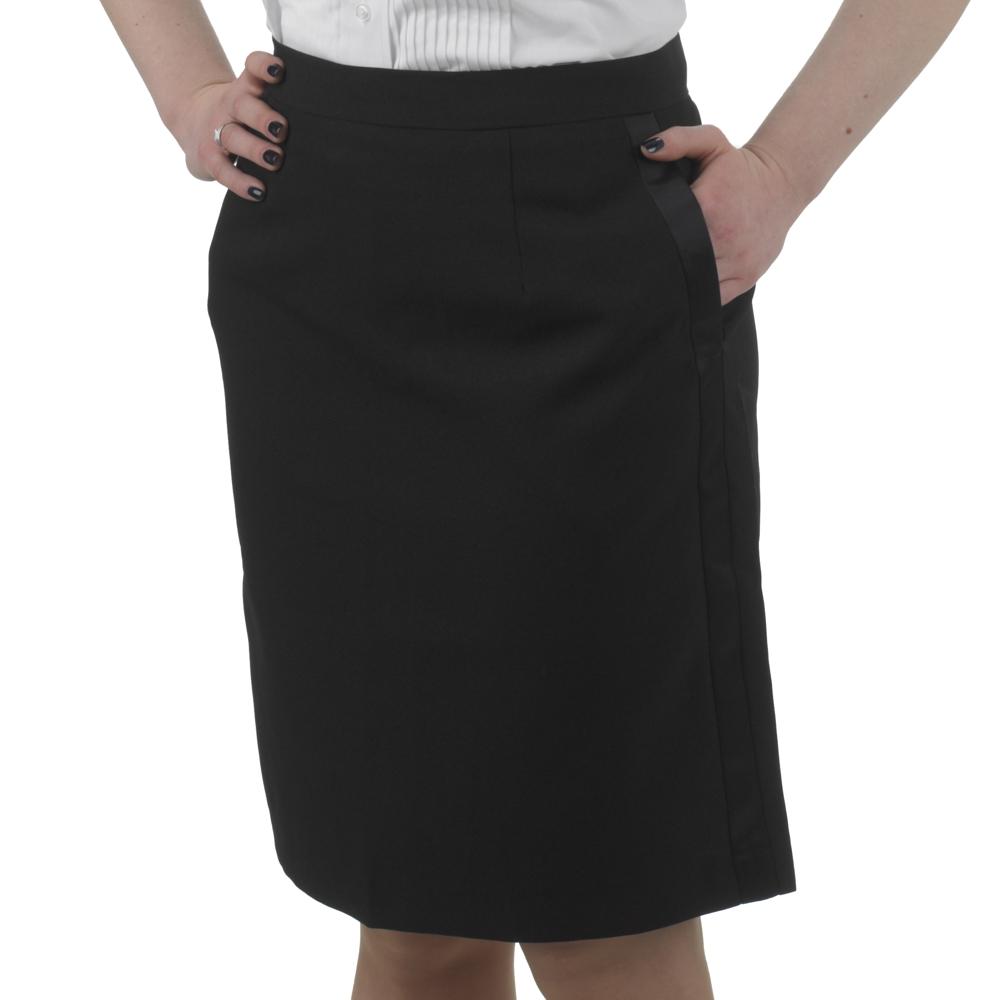 Henry Segal - 6101 - Ladies Tuxedo Skirt (Above The Knee) - Black