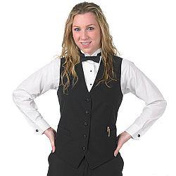 Henry Segal - 3600 - Ladies Longer Full-Back Vest - Black