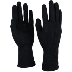 Style Plus™ - Long Wristed Cotton Gloves - Black