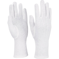 Style Plus™ - Long Wristed Cotton Gloves - White