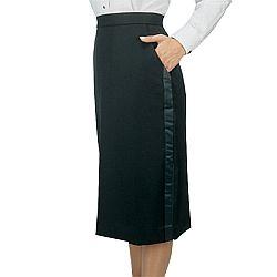 Henry Segal - 6201 - Ladies Tuxedo Skirt (Below The Knee) - Black