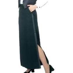 Henry Segal   6202   Ladies Tuxedo Skirt (Floor Length)   Black